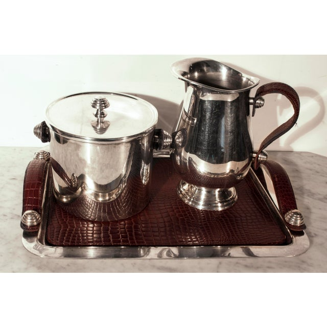 Sheffield Silver & Leather Bar Service Set - Image 4 of 8