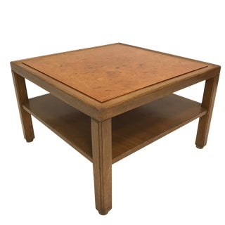 Custom Edward Wormley for Dunbar Burled Elm End or Coffee or Cocktail Table For Sale