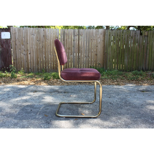 Vintage 70's Brass & Glass Table & Chairs - Image 3 of 8