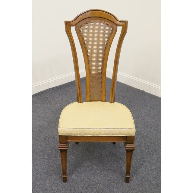 UNIQUE FURNITURE MAKERS Italian Style Cane Back Dining Side Chair 45.5
