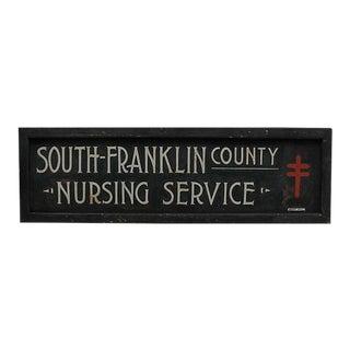 1930s Nursing Service Sign For Sale