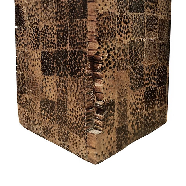 1970s 1970s Rectangular Lacquered Faux Snake Skin Checkerboard Side Table For Sale - Image 5 of 6