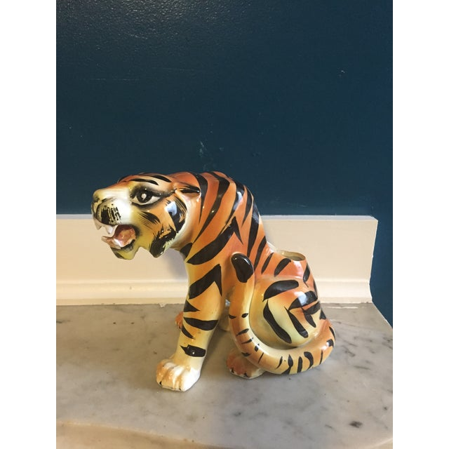 Mid-Century Crouching Tiger Cache Pot - Image 2 of 7