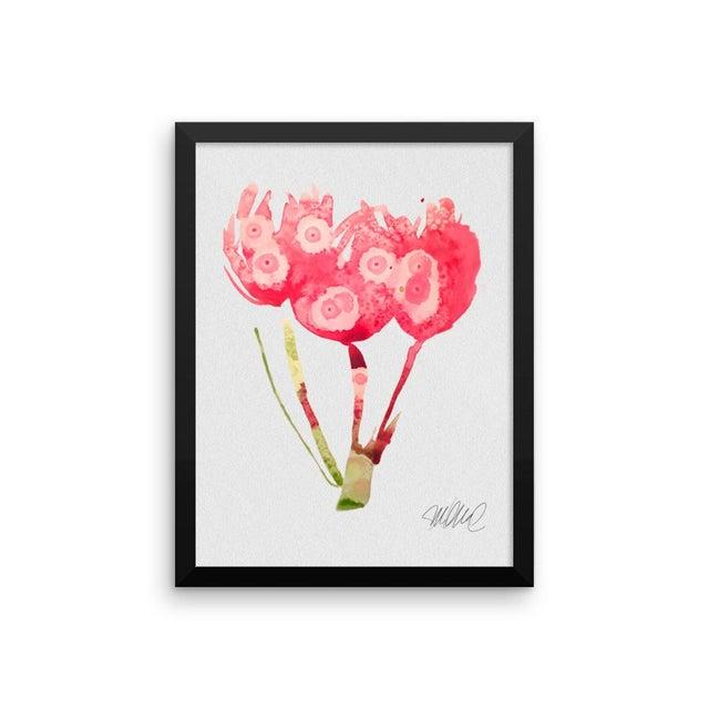 Framed Pink Botanical Print - Image 2 of 3