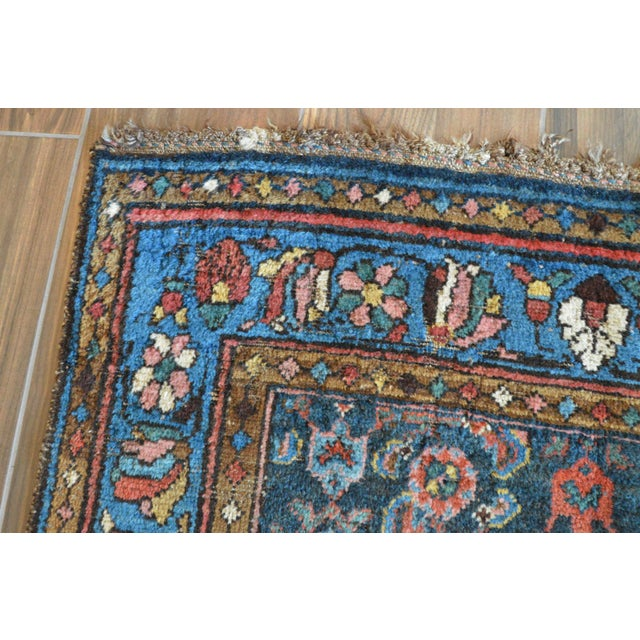 Antique Persian Hand Woven Runner- 3′10″ × 9′7″ - Image 8 of 11