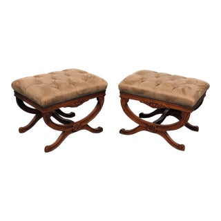 Regency Style X Benches - a Pair For Sale