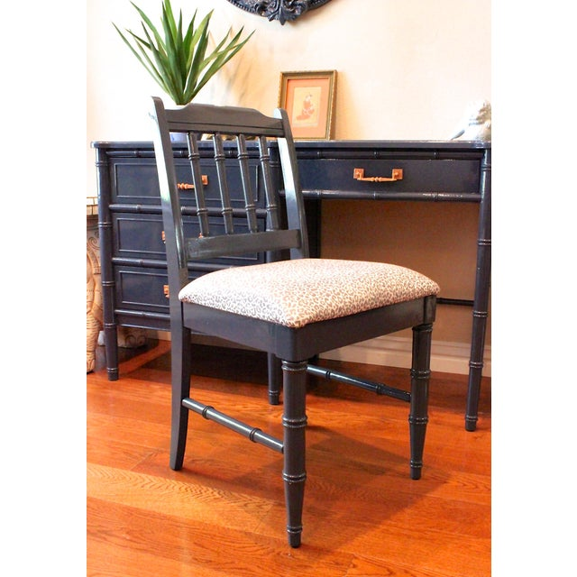 Henry Link Henry Link Bali Hai Faux Bamboo Desk and Chair Set For Sale - Image 4 of 11