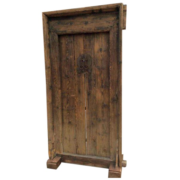 Mid-19th Century Antique Asian Wood Door - Mid-19th Century Antique Asian Wood Door Chairish