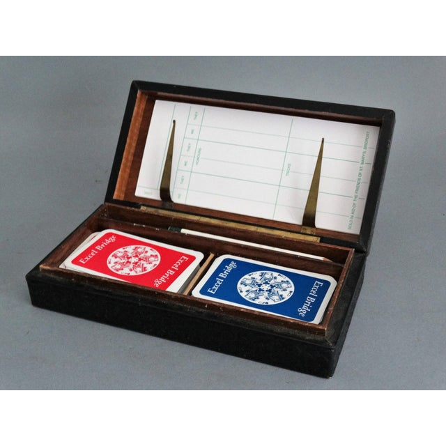 Italian Leather Playing Cards Box Set For Sale In Houston - Image 6 of 8