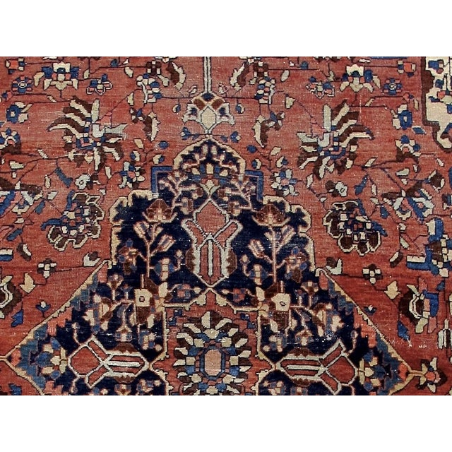 Textile 19th Century Fereghan Sarouk Rug For Sale - Image 7 of 10