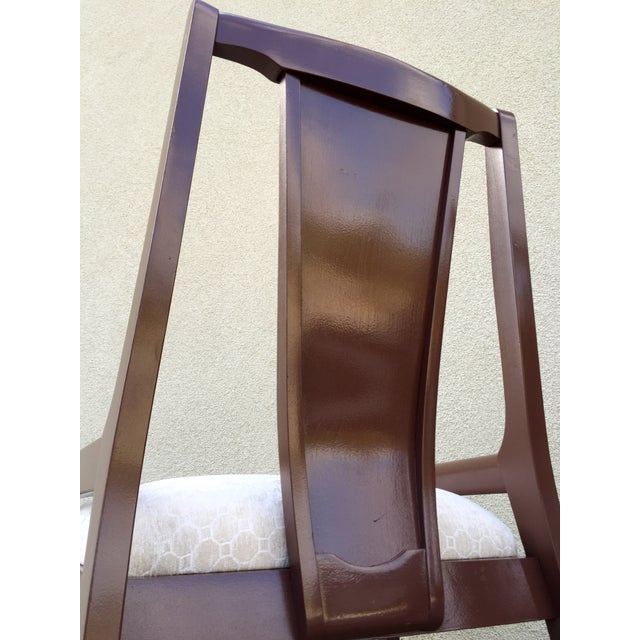 High Back Lacquered Dining Chairs - Set of 6 - Image 7 of 11
