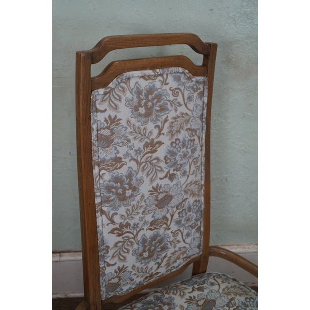 Mid Century Modern Walnut Upholstered Arm Chair - Image 6 of 10