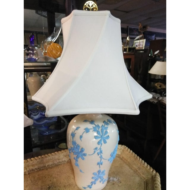 Mid 20th Century Vintage Mid Century Japanese Decorative Lamps With Shades - a Pair For Sale - Image 5 of 10