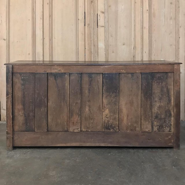 19th Century Country French Provincial Oak Low Buffet For Sale - Image 12 of 13
