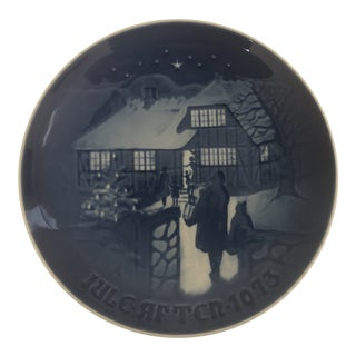 Bing & Grondahl Limited Edition Jule After 1973 Christmas Plate For Sale