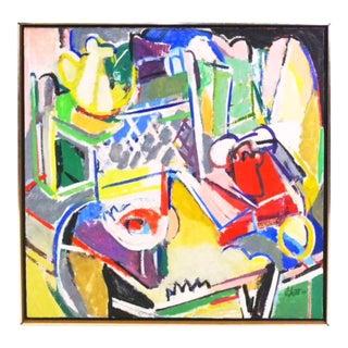 Telephone Still Life Painting by Susan Scott 1976