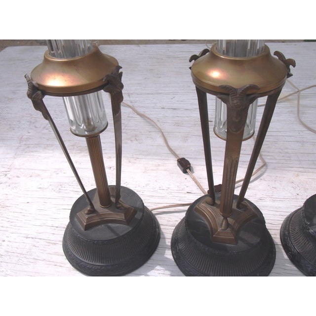 Tripod Columnar Crystal Table Lamps- Set of 4 - Image 3 of 3