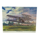 "Image of Original Best of Hubbell Aircraft Print ""World's First Military Aircraft"" by Charles H. Hubbell, 1970 For Sale"