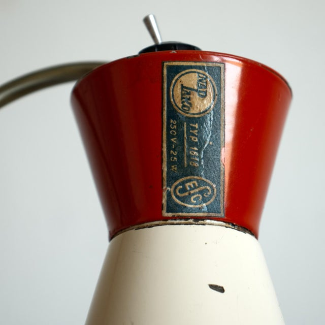 1950s Mid-Century Model 1618 Desk Lamp by Josef Hurka for Napako, Czechoslovakia For Sale - Image 11 of 13