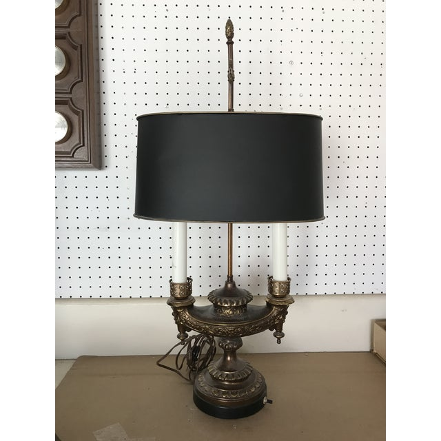 Vintage Mid-Century French Bouillotte Table Lamp For Sale - Image 4 of 4