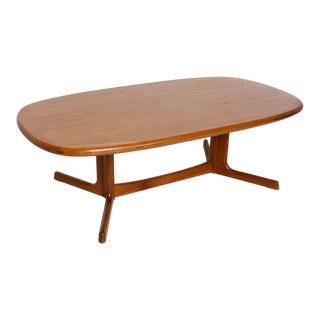Mid Century Danish Modern Teak Coffee Table by Dyrlund For Sale