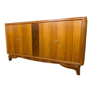 Vintage French Walnut Sideboard With Four Doors For Sale