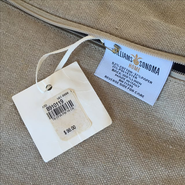 Williams Sonoma Woven Linen Pillow Covers - A Pair - Image 5 of 8