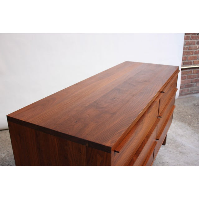 Brown Vintage New England Solid Walnut Chest of Drawers For Sale - Image 8 of 11