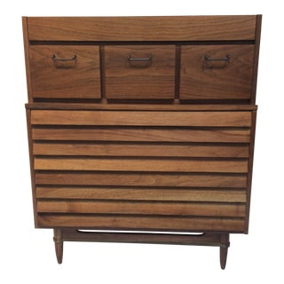 "1970s Mid-Century Modern Merton Gershun for American of Martinsville ""Dania"" Highboy Tall Chest"