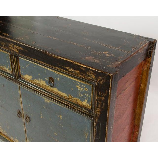 Gansu-Style Blue Antique Cabinet - Image 3 of 5