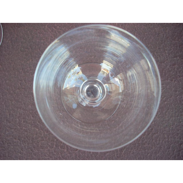 5 available; simple elegance in the finest French crystal from Baccarat; the graceful inverted baluster stem is so...