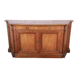 Baker Furniture French Regency Cherry Wood Sideboard For Sale