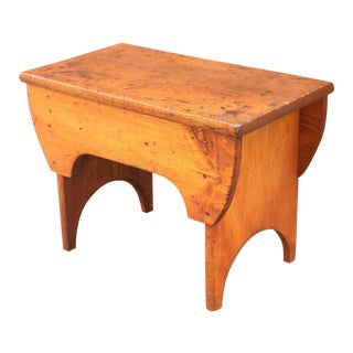 19th-Century Americana Solid Pine Bench For Sale