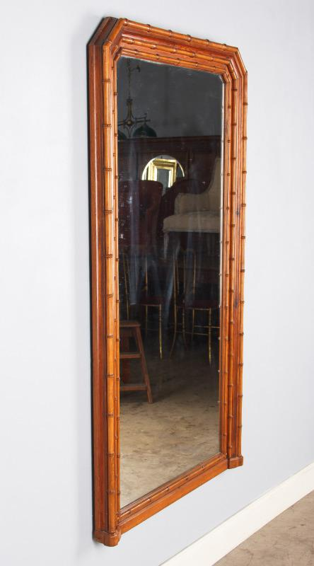 Napoleon III French Colonial Style Bamboo Mirror, Late 1800s   Image 4 Of 10
