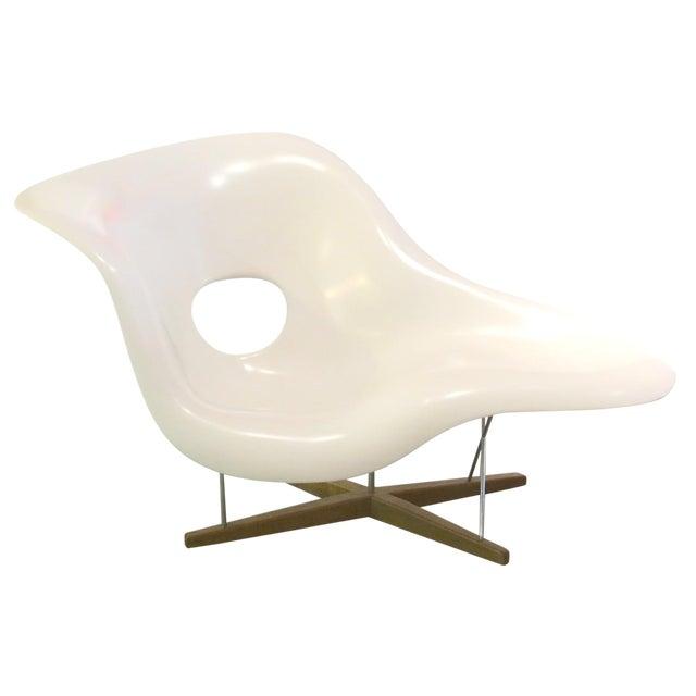 Vintage Eames Vitra White La Chaise Chair For Sale