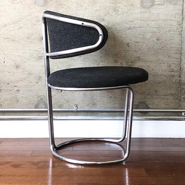 Thonet Vintage Barrel Back Modernist Chair For Sale - Image 4 of 9