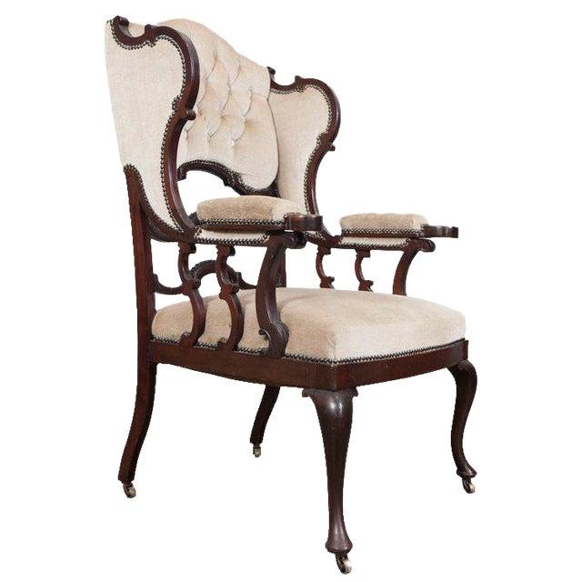 Mahogany Wingback Armchair - Image 1 of 6