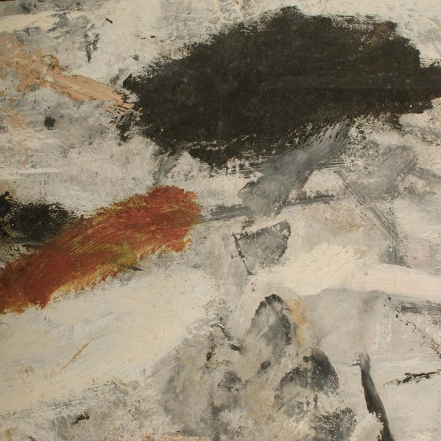White Mid 20th Century Abstract Oil Painting by Newton Haydn Stubbing For Sale - Image 8 of 13