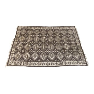 Beige & Brown Reversible Rug