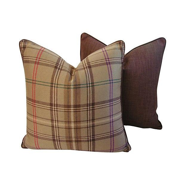 Ralph Lauren Wightwick Plaid Pillows - A Pair - Image 7 of 7
