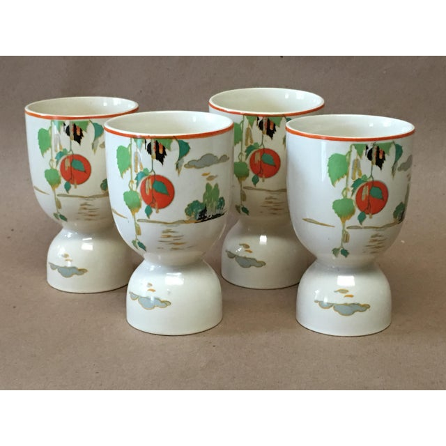 Ceramic Vintage 1920s Double Egg Cups - Set of 4 For Sale - Image 7 of 7