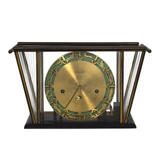 1930's Vintage Welby Zodiac Mantel Clock For Sale