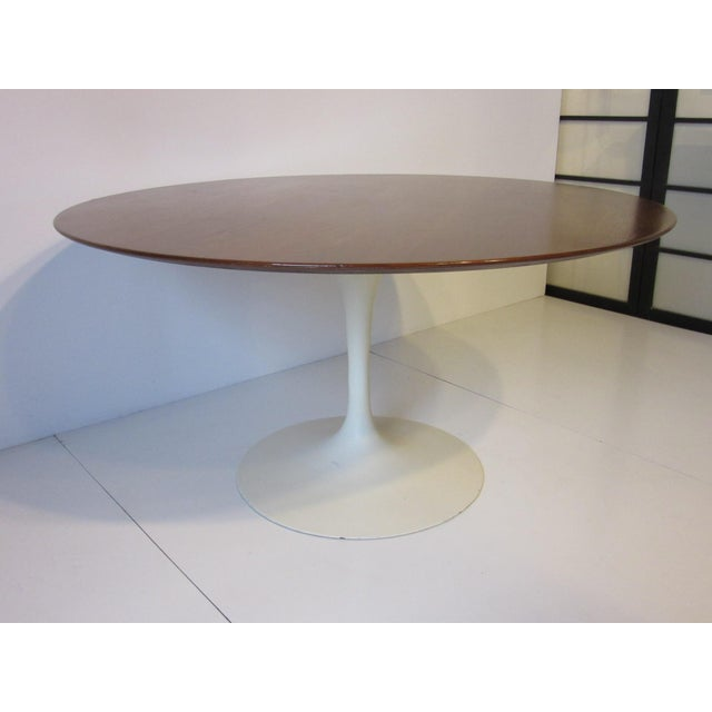 Eero Saarinen for Knoll Walnut Tulip Dining Table For Sale - Image 10 of 10