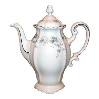 Vintage Johann Haviland Blue Garland Coffee Pot For Sale