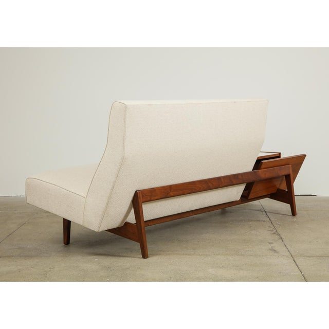Mid-Century Modern Jens Risom Sofa With Magazine Table For Sale - Image 3 of 13