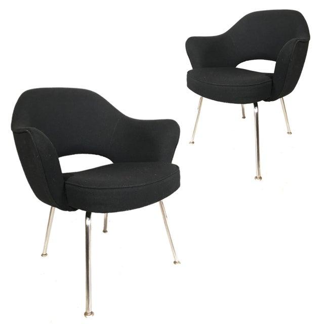 Knoll Eero Saarinen Executive Armchairs - A Pair - Image 4 of 4