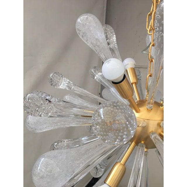 Chandelier Sputnik Brushed Gold Murano Glass For Sale - Image 6 of 11