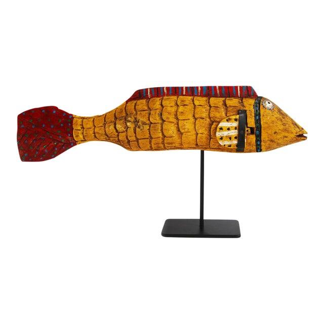 African Mali Mustard Bozo Fish Puppet - Image 1 of 3