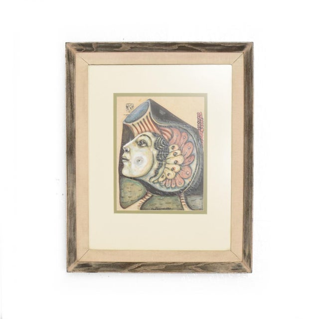 Modern Abstract Drawing Signed Rene Portocarrero For Sale - Image 10 of 10