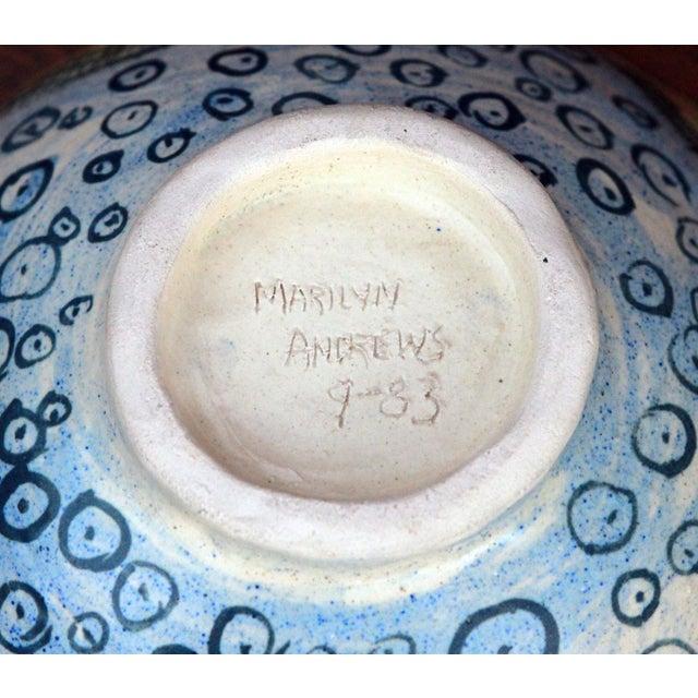 Vintage Marilyn Andrews Massachusetts Folk Art Art Pottery Bowl For Sale In Providence - Image 6 of 6
